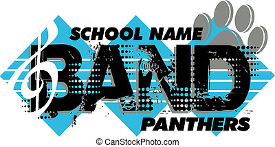 panthers band design with paw print