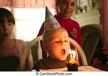 Happy Smiling Baby Boy Celebrating His Birthday