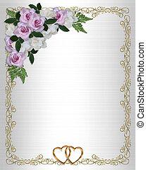 Roses and Gardenias Wedding Invitation