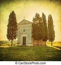 escénico, toscano, vista, Cappella, della, Madonna,...