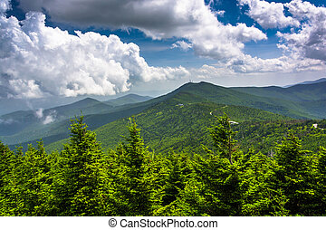 View of the Appalachian Mountains from the Observation Tower...