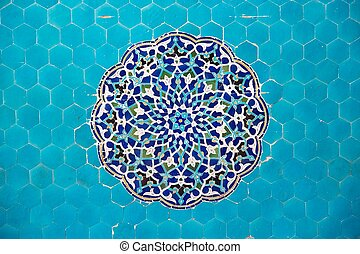 Background - Deatils of the mosaic at the Jame Mosque of...