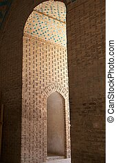Mosque - Architecture details at the Jame Mosque of Yazd,...