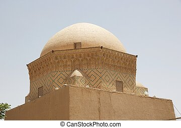 Yazd - Architecture details of the dome of the Alexanders...