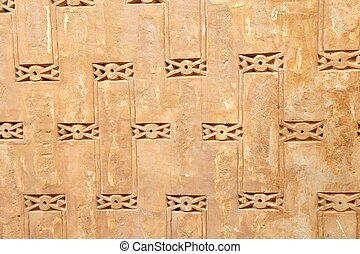 Background - Architecture details at the Jame Mosque of...