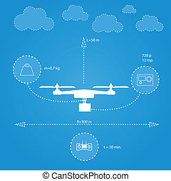 Flat illustration for technical characteristics of...