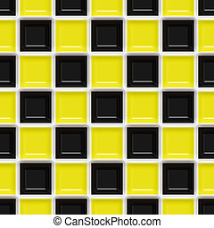 Checkered Pattern - A yellow and black checkered squares...
