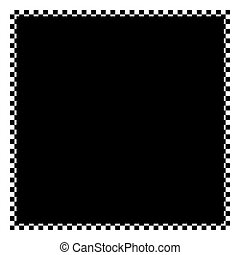 Checkered Frame - A black and white checkered flag border...