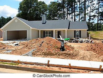 New Home Construction - New home construction at development...