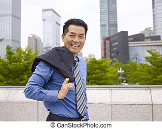 asian business person - outdoor portrait of an asian...