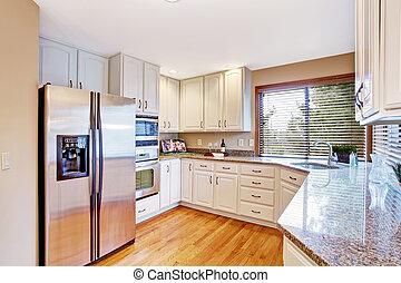 Elegant kitchen interior with granite tops - Elegant kitchen...