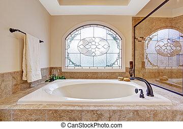 Beautiful bath tub in luxury bathroom - Beautiful bath tub...