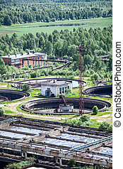 Industrial tanks with sewage treatment