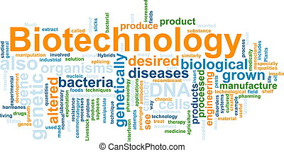 Biotechnology word cloud - Word cloud concept illustration...