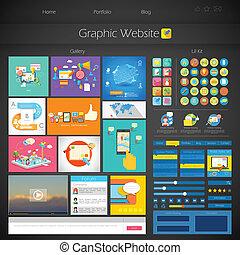 User Interface Design - illustration of flat style User...