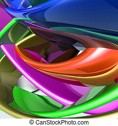 Colorful glossy abstract - Abstract wallpaper background...