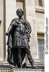 Statue of King James II, Trafalgar - Historic bronze statue...