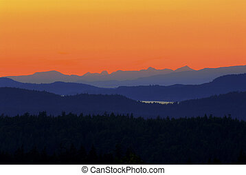 Saltspring Island sunset - Photo transitions from black...