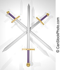 Three sword - Creative design of three swords