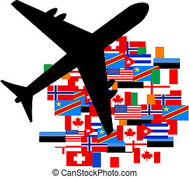 Flag plane - Creative design of flag plane