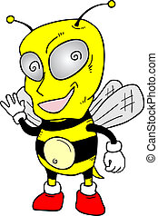 Funny wasp - Creative design of funny wasp