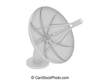 Satellite dish - 3d render of Satellite dish Communication...