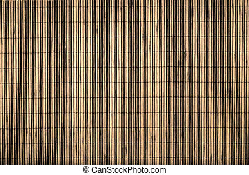 Bamboo mat background.