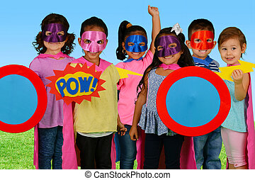 Child Superheroes - Group of children who are dressed up as...
