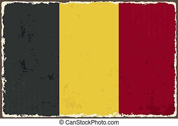 Belgian grunge flag. Vector illustration. Grunge effect can...
