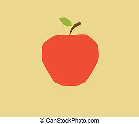 apple - This is a flat-color, angular apple