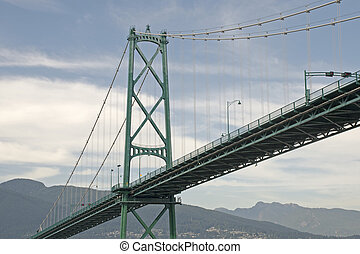Lions Gate suspension bridge - Lions Gate bridge crossing...