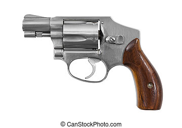 Handgun Isolated - Five shot 38 caliber single action...