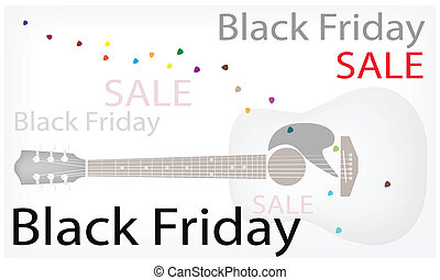 Acoustic Guitars Background of for Black Friday Sale