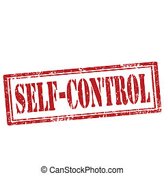Self-Control-stamp - Grunge rubber stamp with text...