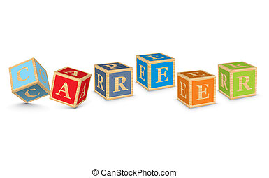 Word CAREER written with blocks - CAREER written with...