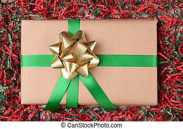 Present in Holiday Crepe Paper
