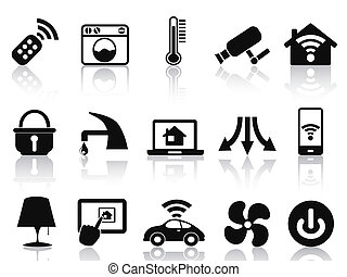 smart house icons set - isolated smart house icons set from...