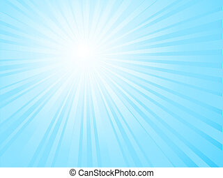 Sunny sky - Sunburst sky background
