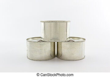 Closeup aluminum tin can. - Closeup aluminum tin can on...