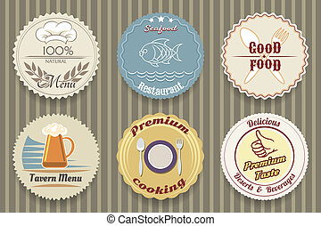 restaurant menu labels - vector labels for restaurant menu...