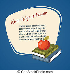 Knowledge Is Power Poster vector design with a ripe red...