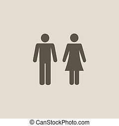 man and woman icons - Vector man and woman icons for toilet...