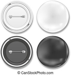 black and white badges - Vector black and white badges on...
