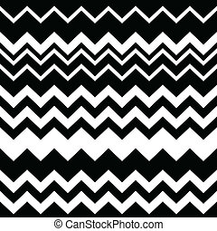 Tribal Aztec zigzag seamless black - Vector seamless Aztec...