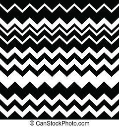 tribal, azteca, zigzag, seamless, negro