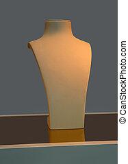 Jewelery manequin - Empty jewelery manequin standing in shop...