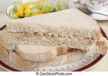 Tuna mayonnaise sandwich - Hand cut tuna mayonnaise sandwich...