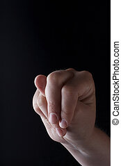 Stock photo of American Sign Language letter N - American...