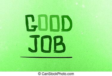 Good Job Concept