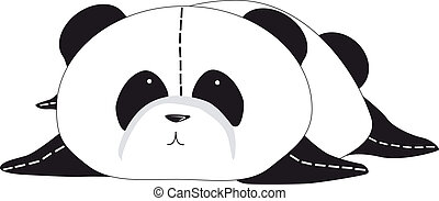 Panda bear - Image of a cute black and white panda bear